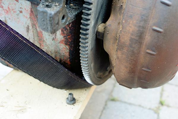 Removing Torque Converter And Flywheel Firebird67